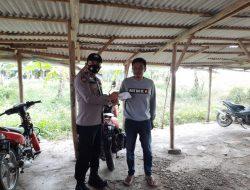 Giat Posko Dalam Rangka PPKM Level 3 Anggota Polsek Cantigi Di Desa Panyingkiran Lor