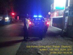 Tekan Angka Kejahatan C-3 Anggota Polsek Cikedung Polres Indramayu Patroli Strong Point Wiralodra