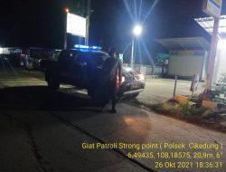 Anggota Polsek Cikedung Polres Indramayu Tekan Angka Kejahatan C-3 Patroli Strong Point Wiralodra